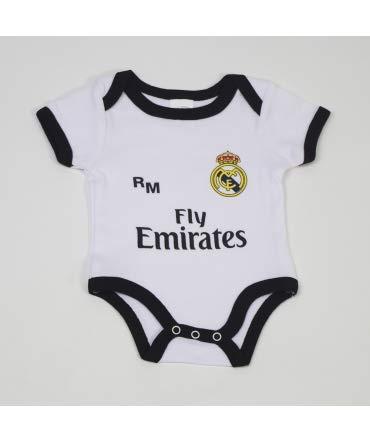 10XDIEZ Baby-Body Real Madrid 810 BCO-schwarz 6 Meses