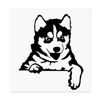 spb87 Diseño de Perro Husky bebé Mascota Perro Cachorro Interruptor de luz Vinilo Funny Love Corazón Decor Home Live Kids Funny Vinilo Arte de Pared Pegatinas