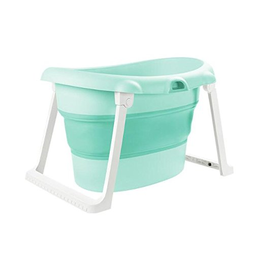 AIBAB Faltbar Baby Niedlich Badewanne Bad Badeeimer Erhöhen Kind Kann Sitzen Verdicken Surround Temperatur Sperren Platzsparend