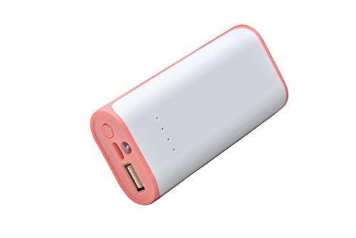 aricona Power Bank 5200 mAh in rot - externer & mobiler USB PowerBank Akku, paralleler Ladevorgang für bis zu zwei Handy 's, Smartphones & Tablets - Der Power Pack Charger