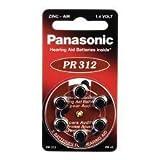 BATTERIEN f.Hörgeräte Panasonic PR312 6 St
