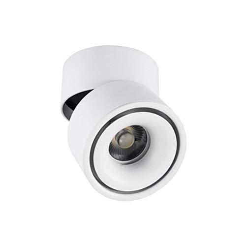 ledmomo Spot à mural pour intérieur à lED 220 V 10 W lumière encastré au plafond Lampe murale à lumière orientable à 360 ° lumière blanche (Blanc)