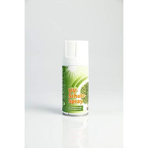 artplants Set 'Künstliche Kroton Pflanze + Gratis UV Schutz Spray' – Kunstpflanze Kroton CARA, Naturstämme, grün-rot, 150 cm