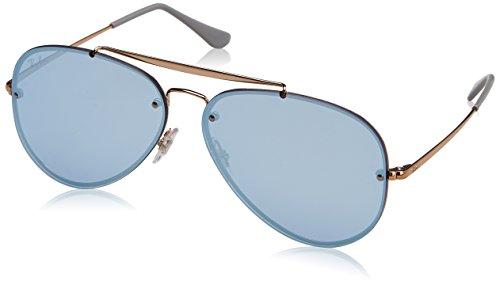 RAYBAN JUNIOR Unisex-Erwachsene Sonnenbrille Blaze Aviator Copper/Darkvioletmirrorsilver, 61