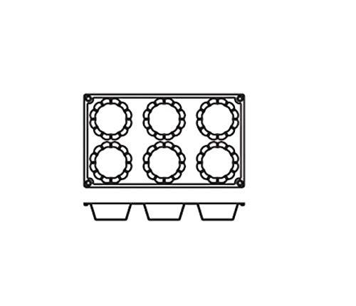 Pentole Agnelli Dolciflex Moule Briochette cannelée, 3 Mats, 15 Moules Chaque, Multicolore, Taille Unique
