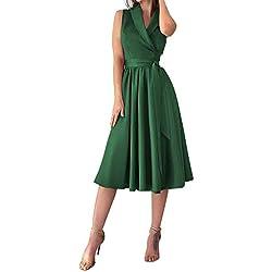 Vectry Vestidos Adolescentes Chica Vestidos Mujer Primavera 2019 Vestidos De Fiesta Largos Elegantes Vestidos Casuales para Mujer Moda Mujer 2019 Vestidos Vestidos Coctel 2019 Falda Verde