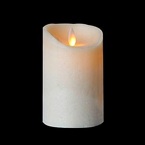 Bougies LED, sans flamme Bougie parfumée pilier Bougie à LED avec minuteur, fonctionne avec pile, la décoration de la maison pour chambre, décoration de mariage, Ivoire, 8,1x 12,7cm