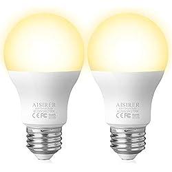 Ampoule Connectee LED E27 AISIRER Ampoule Intelligente WiFi Compatible Avec Alexa(Echo Echo dot) Google Home IFTTT, Télécommande Minuterie par App, Aucun Hub Requis, 806LM, Blanc Chaud 2700K, 9W, 60W