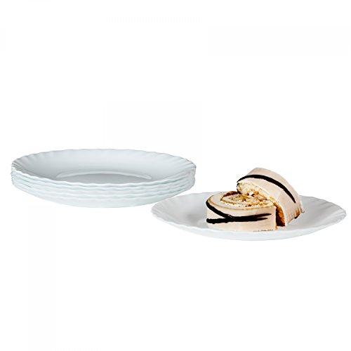 Bormioli Dessertteller Prima 6er Set | hitzebeständiges Opal-Hartglas | Spülmaschinen- und mikrowellenfest | Kuchenteller Frühstücksteller für 6 Personen
