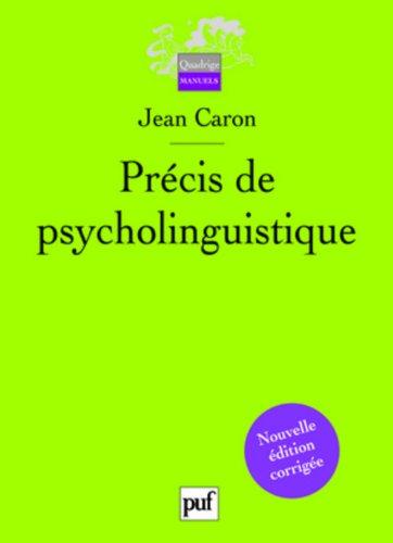 Précis de psycholinguistique