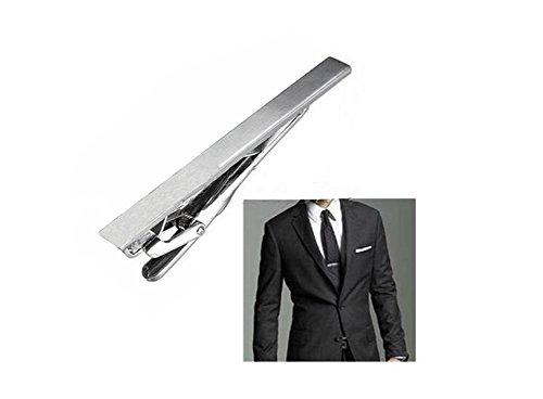 ASTRQLE Herren Edelstahl Formale Einfache Krawatte Tie Bar Schließe Pinch Clip Clamp Remasuri Farbe - Pins Loaded Spring