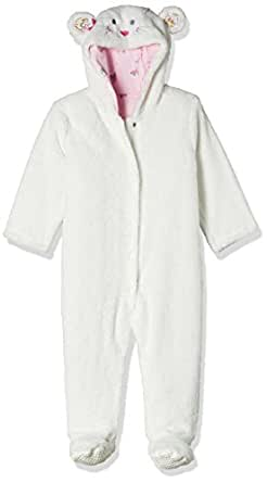 Mothercare Unisex Sleepsuit (JC229-1_Off-White_9-12 M)