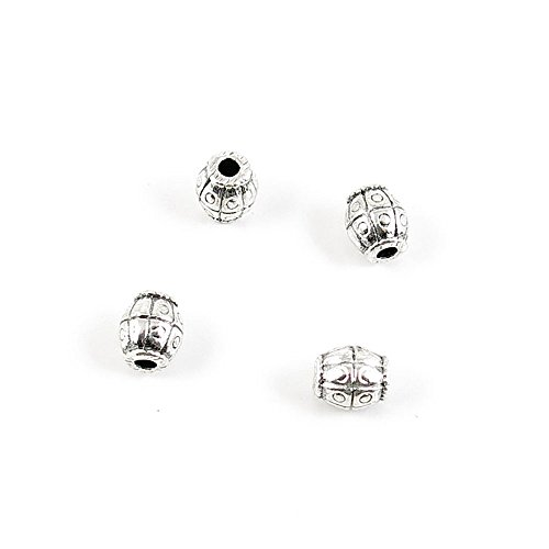 V03827 Schmuckanhänger/Anhänger mit Trommel, Antik-Silber, metall, silberfarben antik-optik