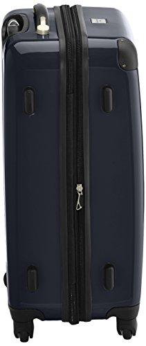 HAUPTSTADTKOFFER - Alex - 2er Koffer-Set Hartschale glänzend, 65 cm, 74 Liter, Graphit-Schwarz Schwarz-Weiß