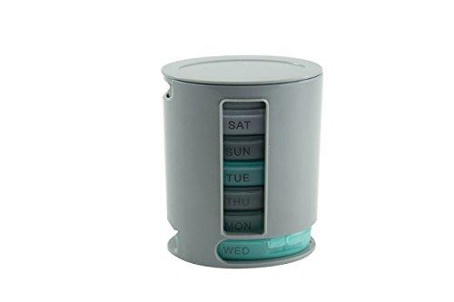 Pille Medikament Box (vinallo Weekly Pille Box Pro Organizer System für Medikamente Nahrungsergänzungsmittel und Vitaminen)