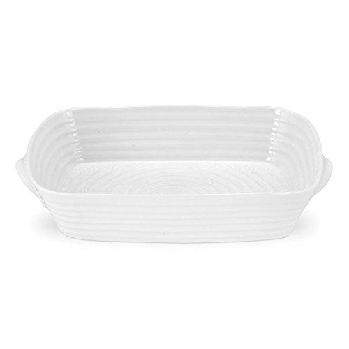 Sophie Conran for Portmeirion Handled Roasting Dish, Porcelain, White, 24.5 x 34 x 6.5 cm