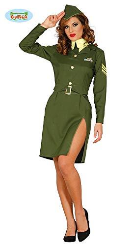 (Sexy Militär Soldatin Soldat Kostüm für Damen Damenkostüm Grün Pilotin Gr. M-L, Größe:S)