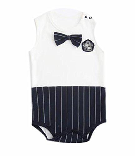 Blancho Bedding Siamese Flaggen Dreieck-Spielanzug Sommerbaby-Kind-Jungen-Mädchen-Weiß Schwarz