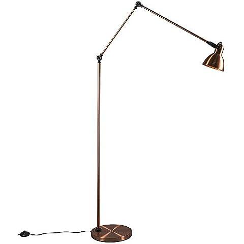 QAZQA Diseño,Moderno Lámpara de pie DAZZLE cobre Metal Alargada / Adecuado para LED E27 Max. 1 x 60