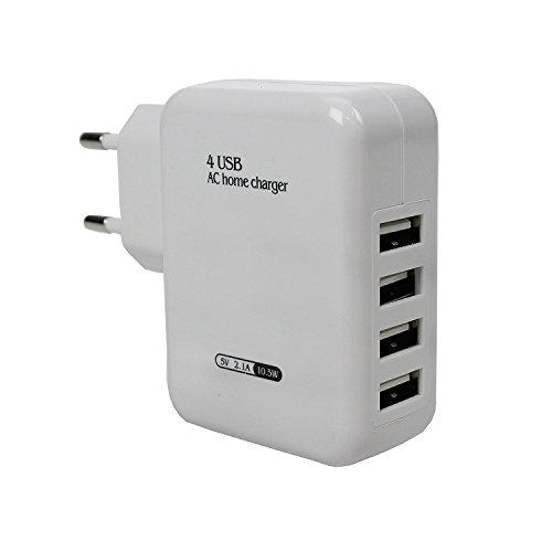 Styletec mehrfach USB Charger | Ladegerät - EU Stecker mit 4 USB Anschlüssen (weiß)