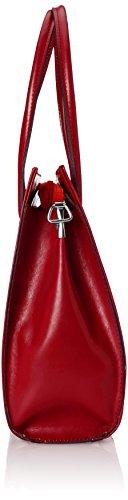 Borsa cartella donna a mano, porta documenti, Vera Pelle 100% Made in Italy Rosso