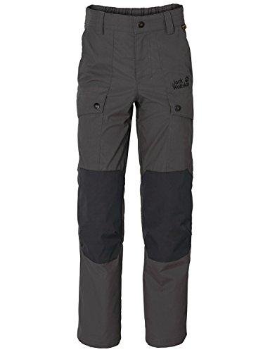 Jack Wolfskin Kinder Hose Explorer F65 Pants K, Dark Steel, 116, 1604981-6032116