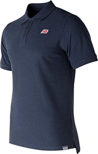 New Balance Cotton Pique Poloshirt Herren Dunkelblau