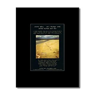 STEVE ADEY - All Things Real Matted Mini Poster - 13.5x10cm