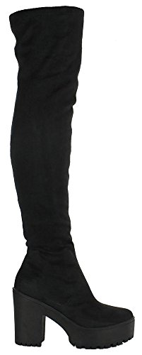 black-faux-suede-size-5-womens-ladies-over-the-knee-thigh-high-platform-heel-stretch-suede-sexy-boot