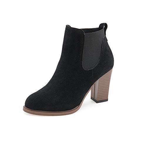 Riou Damen Chelsea Stiefel Blockabsatz Stiefeletten Herbst Winter Elegant Elegant Freizeit Rutschfeste Kurze Ankle Arbeits Schuhe …