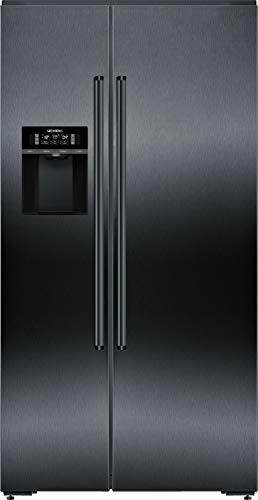 Siemens iQ700 Side-by-Side Kühl-Gefrier-Kombination KA92DHXFP / noFrost-Technik gegen Eis- und Reifbildung / integrierter Eiswürfelbereiter / hyperFresh 0°C / Zwei im Kühlschrank integrierte Kameras