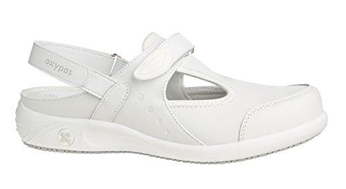 Oxypas Move Carin Slip-resistant, Antistatic Nursing Shoes, White (Lbl) , 8 UK (EU: 42) Bianco (White (Wht)