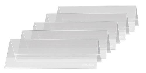 SIGEL TA132 Tischaufsteller Dachform 5er Pack für 19 x 6 cm - weitere Größen