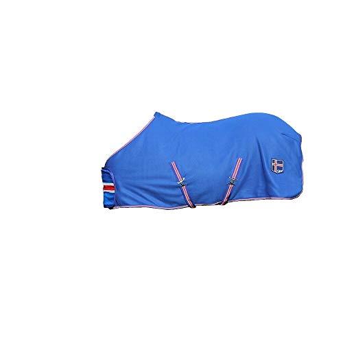 netproshop Hochwertige Abschwitzdecke in den Islandfarben für Isländer Fleece, Groesse:125, Farbe:Blau