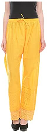 Aarushi Fashions Women's Relaxed Palazzo (AFCP-YELLOW, Yellow)