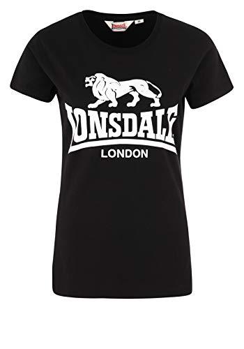 Union Heather T-shirt (Lonsdale London Damen Heather T-Shirt, Black, XXL)