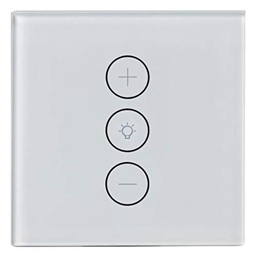 Lopbinte Anwendungs Steuerung Wifi Smart Stufenloser Licht Schalter Dimmer Eu Standard Wand Presse Steuerung Mit Alexa Assistant -