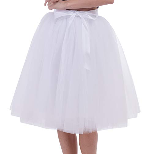 a406e274c1 Tulle Skirts Tutu Skirt Woman Skirt Tulle Midi 7 Layers Costume Party Tutu  for Weddings Costumes