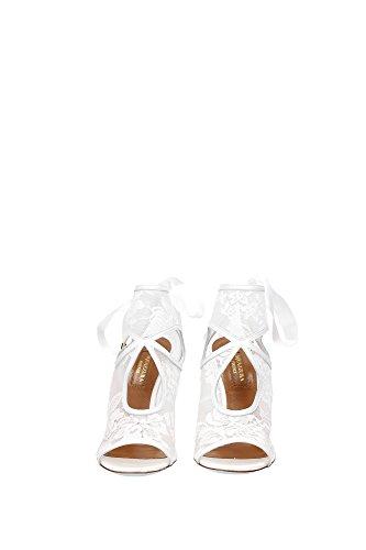 SEXHIGBRNLMFFF Aquazzura Sandale Femme Tissu Blanc Blanc