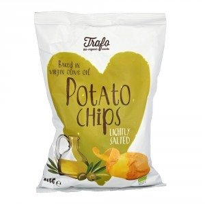 Preisvergleich Produktbild Trafo Kartoffelchips in extra nativem Olivenöl,  gesalzen (100 g) - Bio