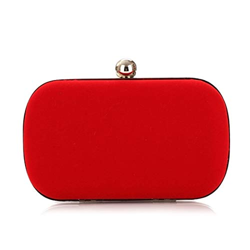 Nalkusxi Damen Abend Handtasche Tasche Flanell Mode Handtasche (Color : Red)