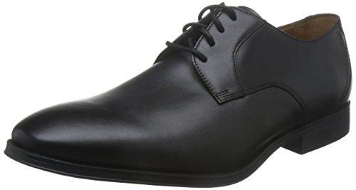 Clarks Chaussures Lacées de Gilman Lace Mens Cuir Large Noir