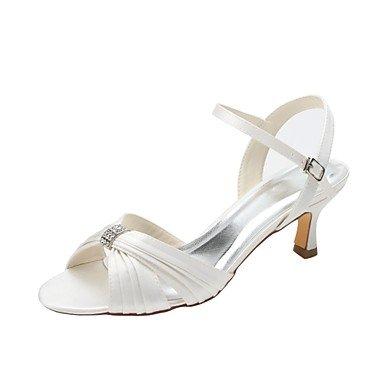 wuyu lunbi @ donne scarpe Stretch Raso estate Basic pompa matrimonio scarpe tacco basso open toe cristallo per Party & abito da sera A