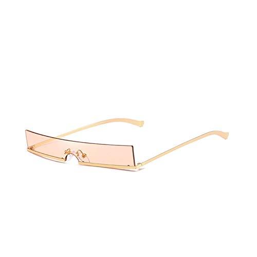 KnSam Polarisierte UV400 Schutz Ultraleicht Rahmen Sonnenbrille Damen Gold Braun Fahrerbrille