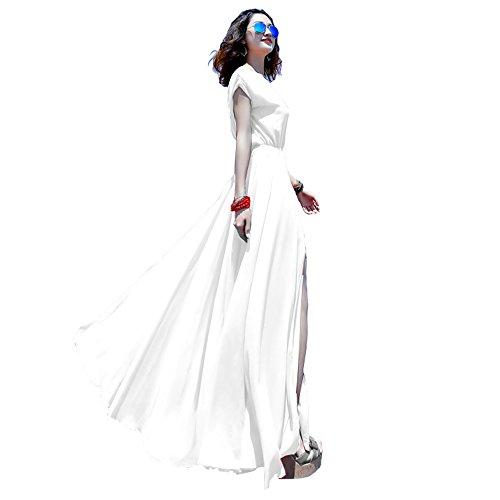 years-calm-vestido-con-aberturas-sin-mangas-para-mujer-blanco-blanco-talla-unica