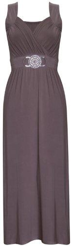 Purple Hanger - Robe Femme Sans Manche Extensible Boucle Ceinture Grande Taille Neuf Moka