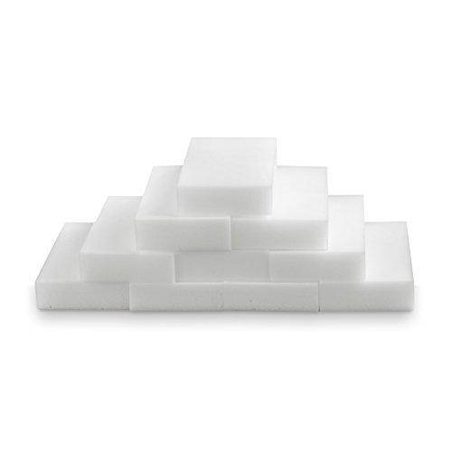 TRIXES 10 X Spugna magica per la pulizia, macchia, gomma, cuscinetto smacchiatore, ecologica, bianca forniture per la puliz