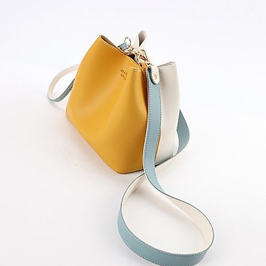 Damenmode PU Leder Schulter Messenger Crossbody Mini Bag Yellow