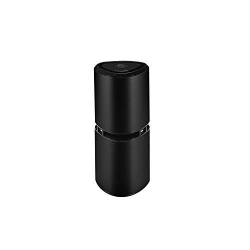 Luftfilter,wasserbecher Aluminium Smart Mini luftwäscher leicht luftverschmutzung entfernen air Purifier,Black -