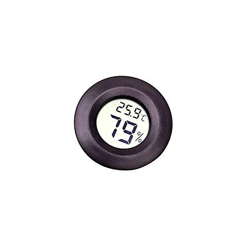 Beito Reptilien-Thermometer Schwarzes rundes LCD-Display Hygrometer-Temperaturmessgerät Terrarientank Vivarium Gauge Tester